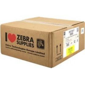 3007208-T - Etichette Zebra F.to 31x22mm Carta Termica Ad. Permanente D.i. 25mm - con Strappo facilitato - Conf. da 12 Rotoli