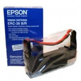 C43S015376 - ERC38BR Ribbon Black / Red per Epson TM-U220