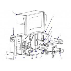 20004M - Ribbon Take-Up Spindle Assy per Stampante Zebra S4M