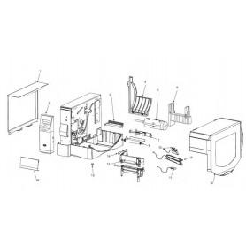 HW44014 - Kit Rubber Bumper Feet per Stampante Zebra ZxM+ Series - Confezione da 10 pezzi