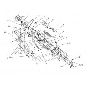 1-995101-54 - Cinghia - Tooth Belt 144 MXL025 per Stampanti Intermec EC501, 501XP, 601XP, PX4i e PX6i