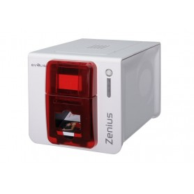 ZN1H0000RS - Stampante di Card Evolis Zenius Expert USB/Ethernet, Rosso Fuoco