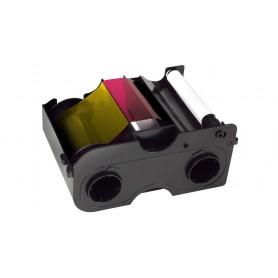 45100 - Nastro Colore YMCKO con Overlay - 250 Immagini, con rullo di pulizia per Stampante Fargo DTC1000 e DTC4000