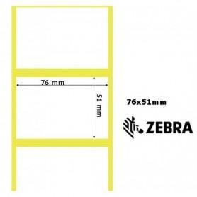 76055 - Etichette Zebra F.to 76x51mm Carta Vellum Adesivo Permanente D.i. 76mm - Confezione da 6 Rotoli