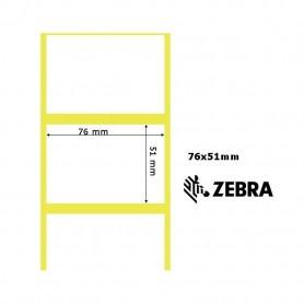 800630-205 - Etichette Zebra F.to 76x51mm Carta Vellum Ad. Permanente - con Strappo facilitato - Conf. da 4 Rotoli