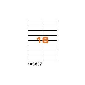 A4R10537 - Etichette F.to 105x37mm su Foglio A4, senza Margini , Adesivo Removibile - Confezione da 700 Fogli