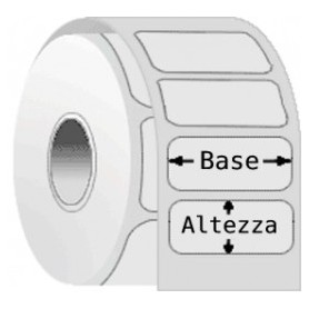 ET23X13VLCP76132P2 - Etichette F.to 23x13mm Carta Vellum Adesivo Permanente D.i. 76mm D.e. 132mm - 2 Piste - Conf. da 5 Rotoli