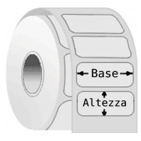 ET51X25TERP25118 - Etichette F.to 51x25mm Carta Termica Adesivo Permanente D.i. 25mm D.e. 118mm - Confezione da 10 Rotoli
