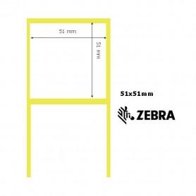 880010-050 - Etichette Zebra F.to 51x51mm Carta Vellum Adesivo Permanente D.i. 76mm - Confezione da 10 Rotoli