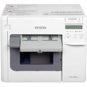 C31CD54012 - Stampante Epson TM-C3500 InkJet a 4 Colori per Etichette - Taglierina - Ethernet e USB - Include Alimentatore