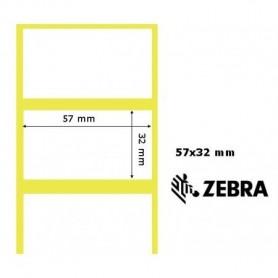800262-125 - Etichette Zebra F.to 57x32mm Carta Termica Protetta Adesivo Permanente D.i. 25mm con Strappo facilitato