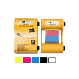 800033-840 - Ribbon a Colori 5 Pannelli YMCKO per Stampanti Zebra ZXP Serie 3 - True Colours Ribbon - 200 Stampe