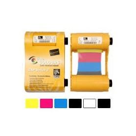 800033-848 - Ribbon a Colori Fronte YMCKOK + Nero Retro per Stampanti Zebra ZXP Serie 3 Dual Side - 165 Stampe