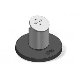 LTP101-02 - Ergonomic Solutions Space Pole Light & Pole (inc. flange cover) Black