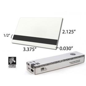104523-113 - Card plastificate singole 30 mil, Premier - PVC bianco, con banda magnetica ad alta coercitività (Conf. da 500 pz)