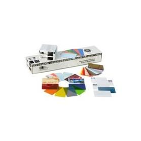 104523-132 - Card plastificate singole 30 mil, Premier - PVC argento metallizzato (Conf. da 500 pz)